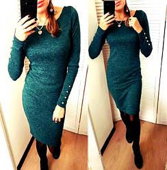 Платье ангора меланж с пуговицами размер 44