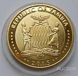 Замбия. Лев. 10000 Квача 2015 г. Пруф, фото 2