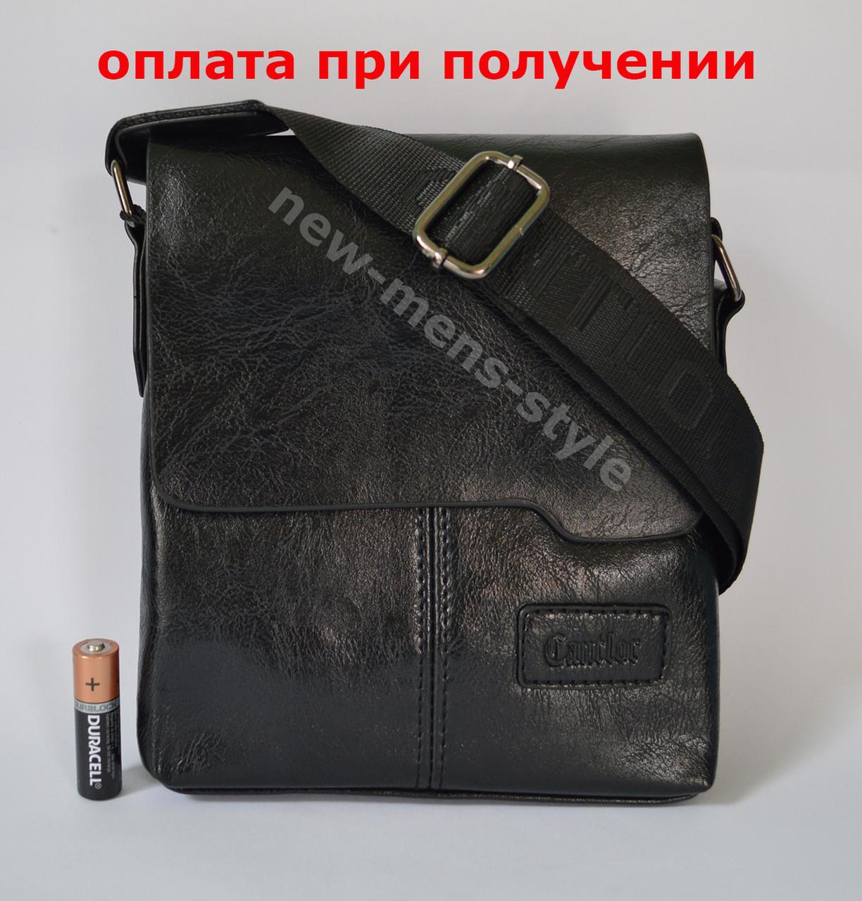 Чоловіча шкіряна фірмова сумка барсетка Cantlor Polo класика купити