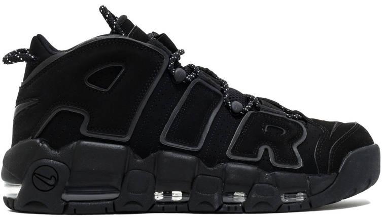 Мужские кроссовки в стиле Nike Air More Uptempo Black  купить в ... bf3f9c4a54f15
