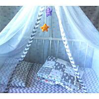 """Постельное белье """"Зигзаг удачи"""", в кроватку"""