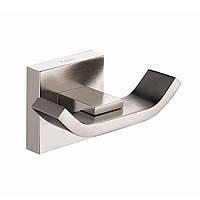 Крючок двойной настенный, материал - латунь, покрытие - матовый никель Kraus Aura KEA-14401 BN
