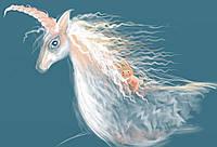 Авторская подарочная картина «Путешествие единорога» художницы Ольги Кравцовой-Моцпан.