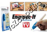 Гравировщик бормашина Engrave-IT мини гравер на батарейках с 2 насадками