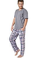 Пижама мужская Adam с коротким рукавом, серый меланж,  ХXL/52, TM Taro