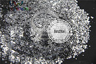 Брокат (конфетти) для ногтей №73 ( Mix , галограмма)