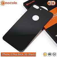 Защитное стекло на заднюю панель Mocolo iPhone 8 Plus (Black) 3D, фото 1