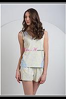 Пижама для женщин, комплект для сна, шорты и майка LNP 024-001