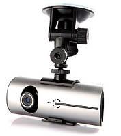 Автомобильный GPS видеорегистратор R300 c двумя камерами, фото 1