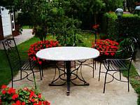 Кованые стулья и столы для ресторана и кафе 1