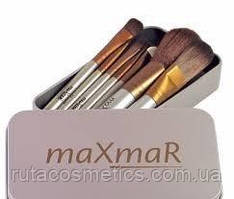 Набір кистей в металевому футлярі MaXmaR (7 штук)