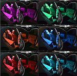 Светодиодная подсветка салона автомобиля с пультом ДУ RGB  2x5050 RGB T10 194 168 W5W12 12smd, фото 6
