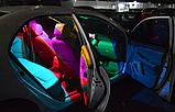 Светодиодная подсветка салона автомобиля с пультом ДУ RGB  2x5050 RGB T10 194 168 W5W12 12smd, фото 3