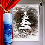Искусственный снег – «наряд» для окон