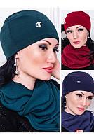 """Зимний комплект шапка и шарф """"Ангорка"""""""