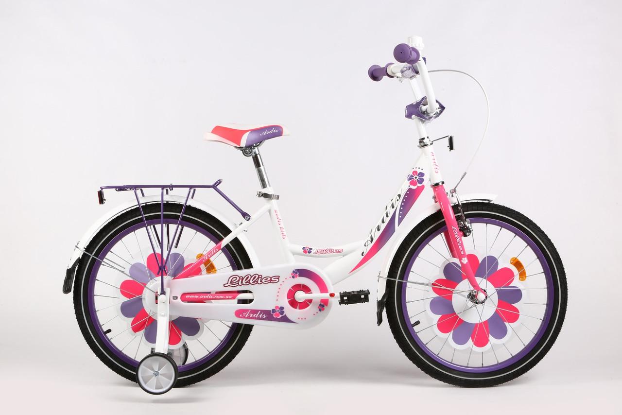 """Детский велосипед ARDIS LILLIES BMX 20""""  Белый/Фиолетовый"""
