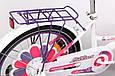 """Детский велосипед ARDIS LILLIES BMX 20""""  Белый/Фиолетовый, фото 7"""