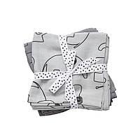Done by Deer - Комплект муслиновых пеленок 2 шт Contour, цвет grey