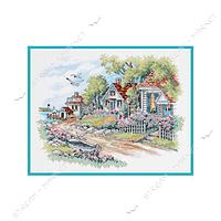 Набор для вышивания крестом 'DIMENSIONS' 03240 'Коттеджи на берегу моря'