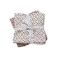 Done by Deer - Комплект муслиновых пеленок 2 шт Happy dots, цвет powder