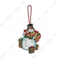 Набор для вышивания крестом 'DIMENSIONS' 70-08896 'Рождественское украшение Снеговик'