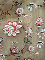 Тюль с рисунком цветов