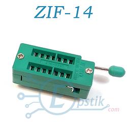 ZIF панель 14-контактная с нулевым усилием
