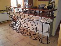 Кованые стулья и столы для ресторана и кафе 5