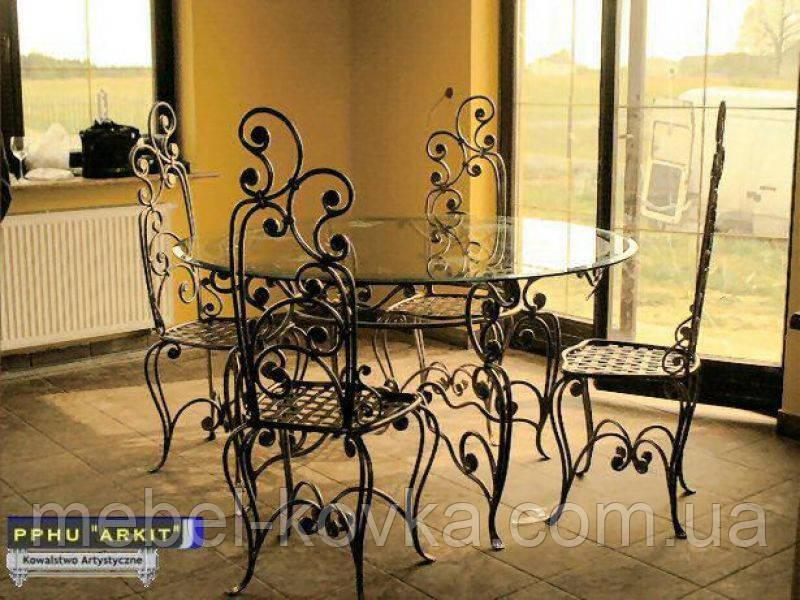 Кованые стулья и столы для ресторана и кафе 6