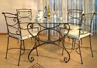 Кованые стулья и столы для ресторана и кафе 9