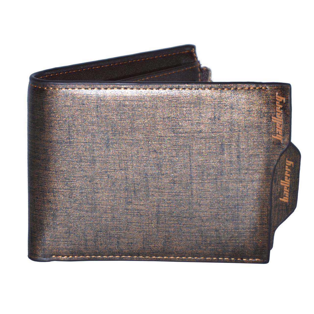 Мужской кошелек Baellerry Dual Calvin золотой - Интернет магазин