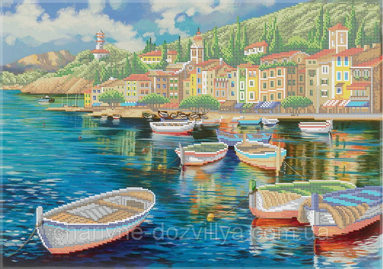 """Схема для вышивки бисером на габардине пейзаж """"Венеция"""" (40х60см)"""