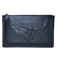 Кожаный клатч Beallerry Eagle черный, фото 1