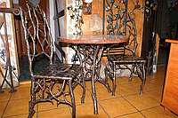 Кованые стулья и столы для ресторана и кафе 10
