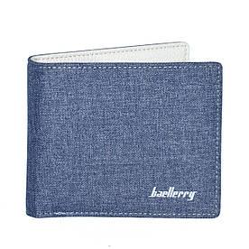 Чоловічий гаманець Baellerry Textile Mini синій