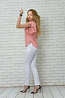 Женская стильная блузка с оборками на рукавах, фото 1