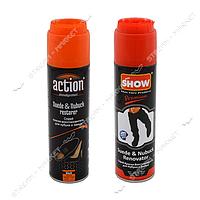 'ACTION & SHOW' Спрей краска-восстановитель для нубука и замши (черная) 250 мл