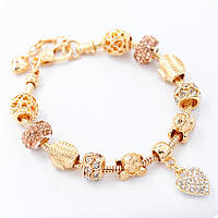 Браслет Pandora Shell золотой реплика