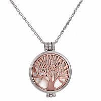 """Кулон """"Дерево"""" с вкладышами розовое золото"""