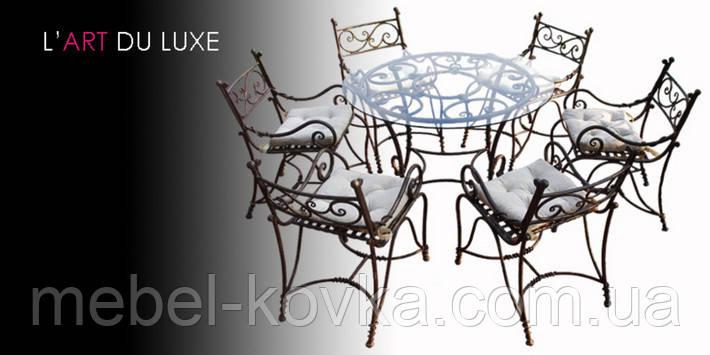 Кованые стулья и столы для ресторана и кафе 12