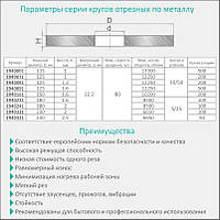 Круг отрезной по металлу Ø230x2.5x22.2мм, 6650об/мин Sigma (1940321)