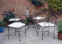 Кованые стулья и столы для ресторана и кафе 15