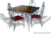 Кованые стулья и столы для ресторана и кафе 17