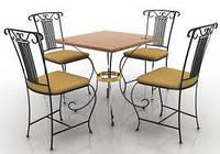 Кованые стулья и столы для ресторана и кафе 19