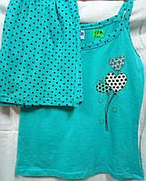 Пижама с короткими шортиками в горох