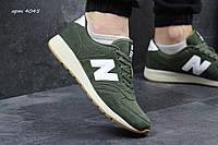 Мужские нью беланс кроссовки  New Balance  -зеленые-Замша,подошва пена,размеры:41-45 Англия