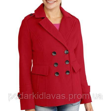 Бордовый  Пальто/Жакет, весна-осень, М-L