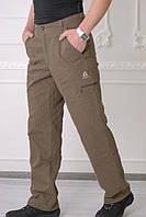 Зимние мужские штаны Azimut 056 горчица  код 117 Б