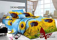 Комплект постельного белья полуторного Подсолнухи(R093),постельное белье интернет