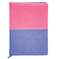 Ежедневник Buromax недатированный QUATTRO, A6, 288стр. розовый + сиреневый (BM.2609-91)